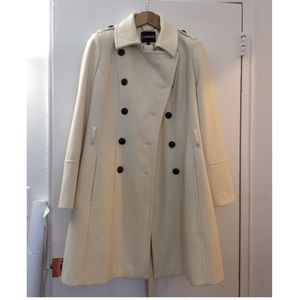 Winter White Cream Trench w/ Belt